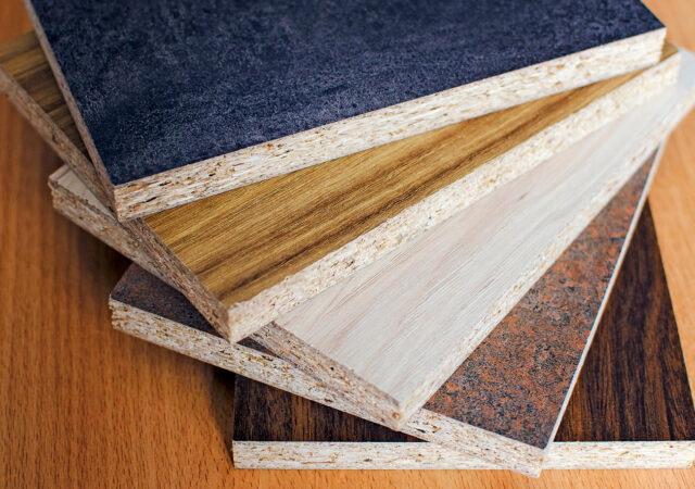Sample of laminate board. material for interior architecture and construction or furniture finishing design concept